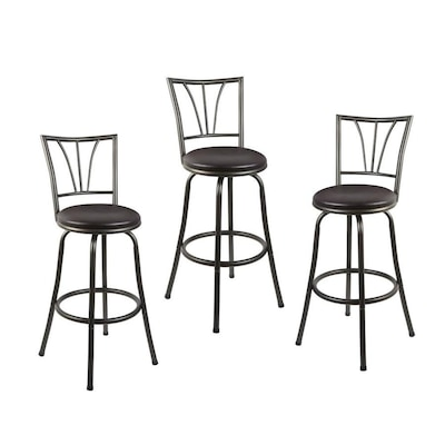 Pleasing Cheyenne Products Set Of 3 Gunmetal Adjustable Stool At Short Links Chair Design For Home Short Linksinfo