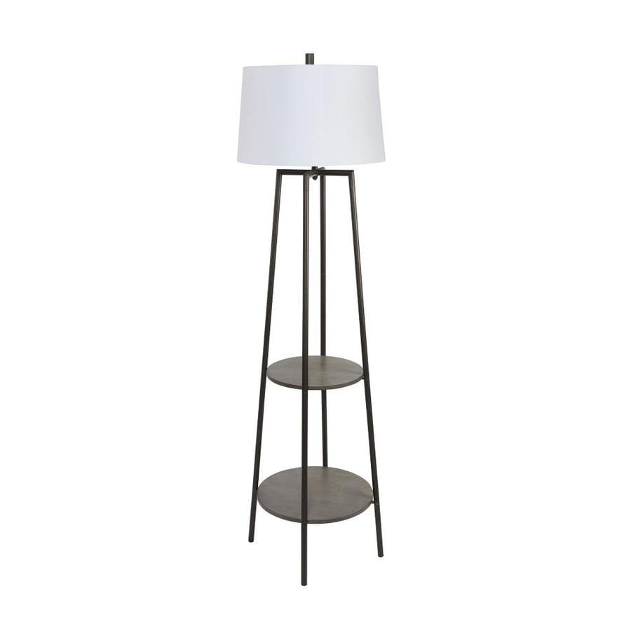 Cheyenne Products 63 In Gunmetal Shaded Floor Lamp In The Floor Lamps Department At Lowes Com