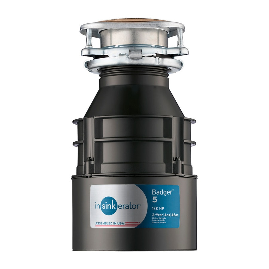 badger 1 2 hp garbage disposal shop insinkerator badger 5 1 2 hp continuous feed garbage 9073