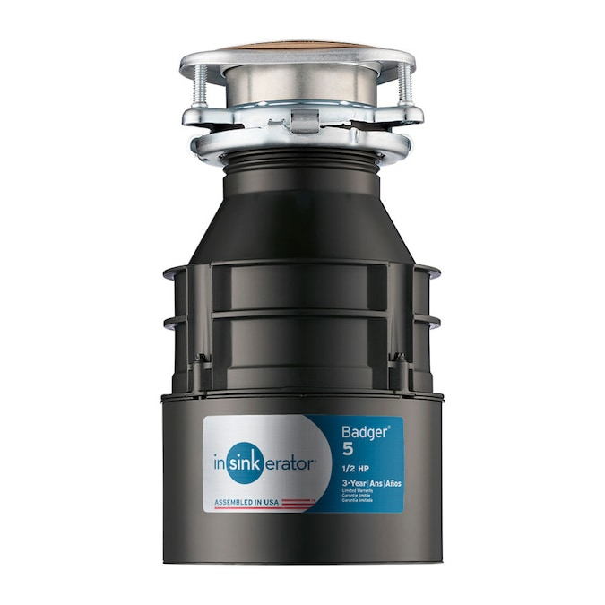 Insinkerator Badger 5 1 2 Hp Continuous Feed Garbage Disposal In