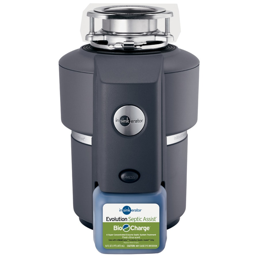 InSinkErator Evolution Septic Assist 3/4-HP Continuous Feed Noise Insulated Garbage Disposal