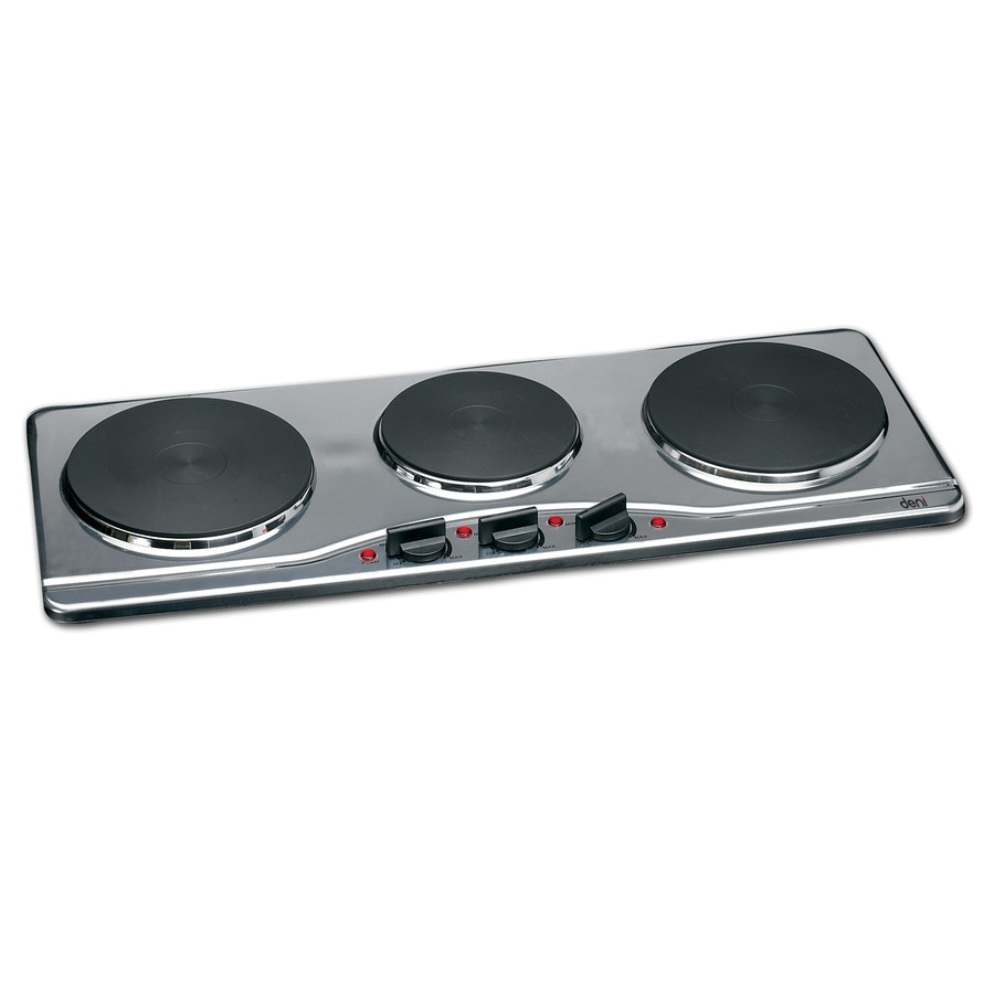 Deni 27.56-in 3-Burner Stainless Steel Table-Top Burner