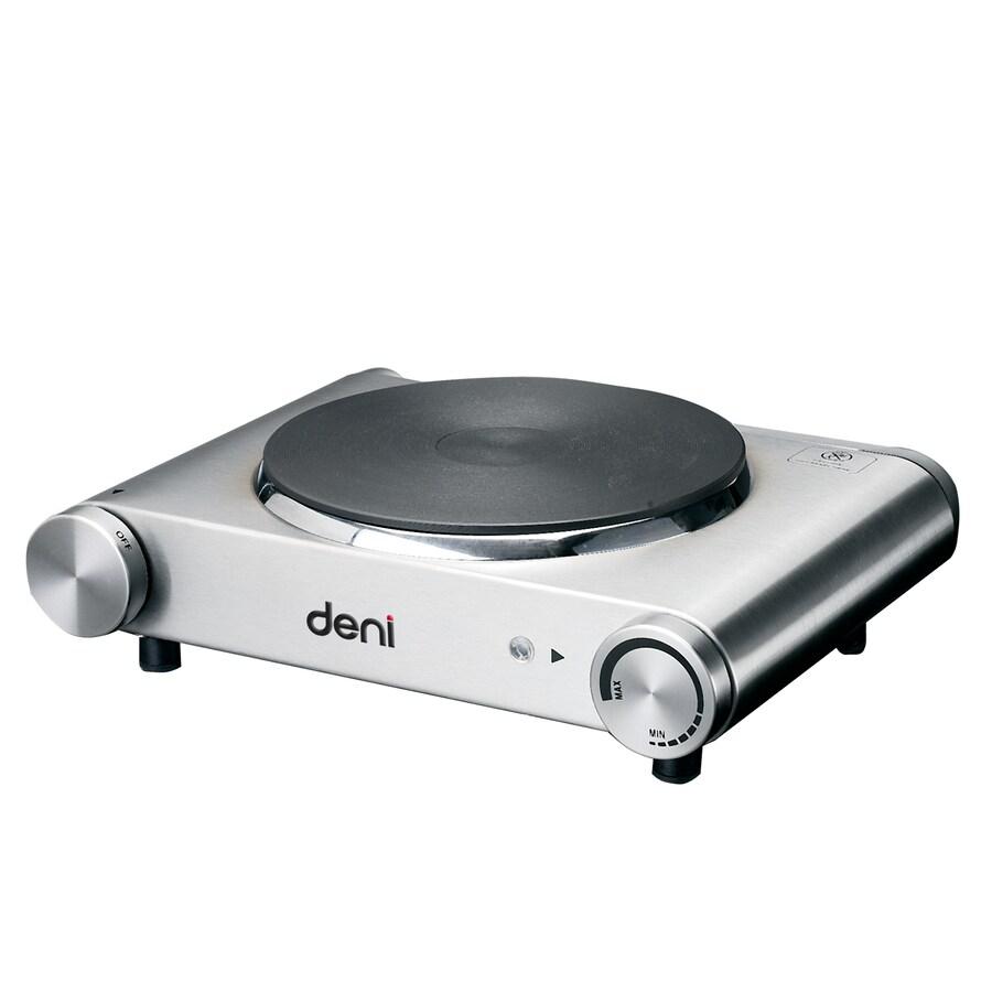Deni 11.61-in 1-Burner Stainless Steel Table-Top Burner