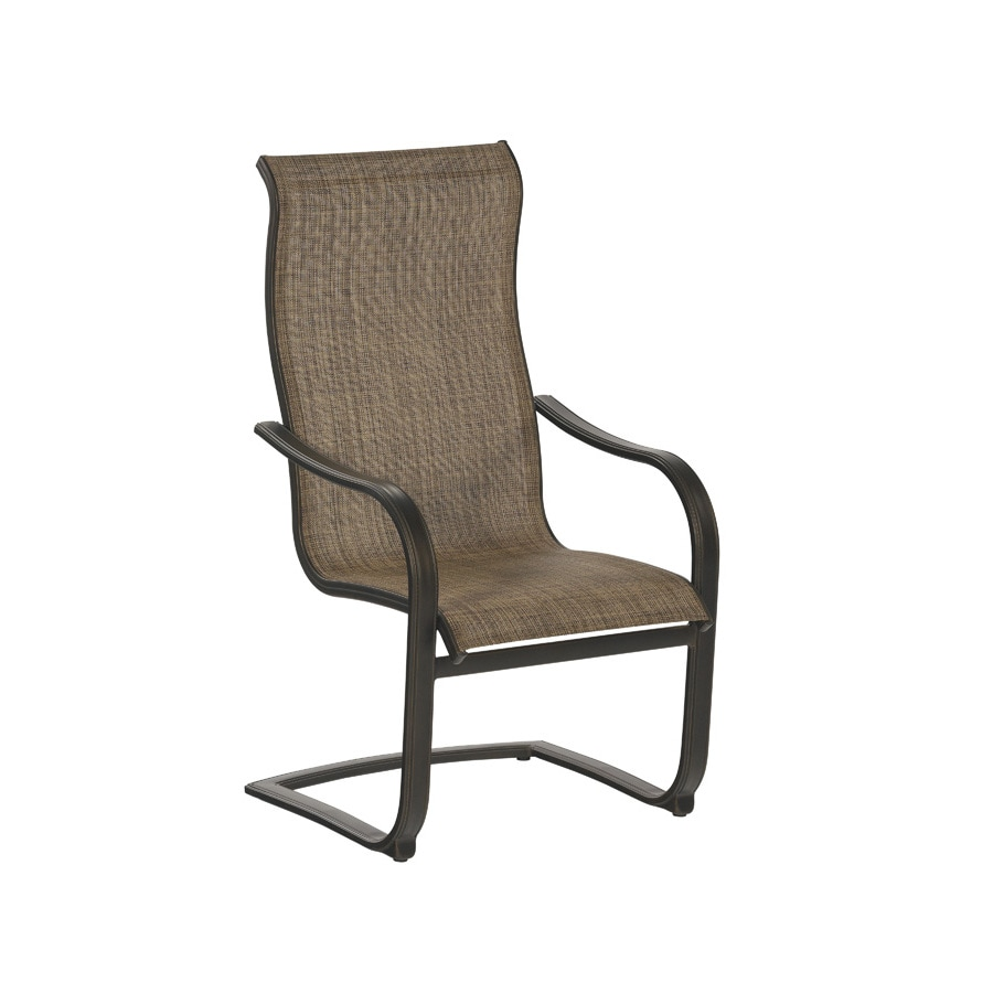 allen + roth Set of 6 Tenbrook Sling-Seat Aluminum Patio Dining Chairs