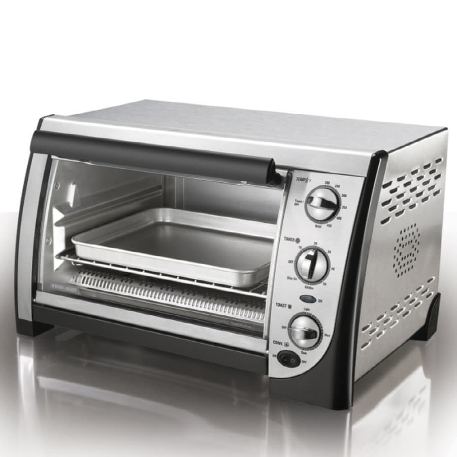 Black Amp Decker 4 Slice Stainless Steel Toaster Oven At