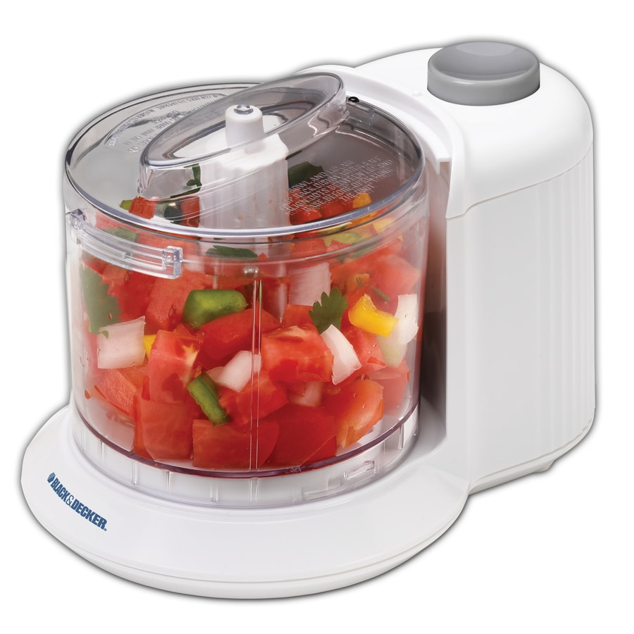 BLACK U0026 DECKER 1.5 Cup 70 Watt White 1 Blade Food Processor