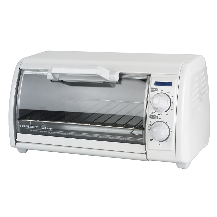 BLACK & DECKER 4-Slice White Toaster Oven with Auto Shut-Off