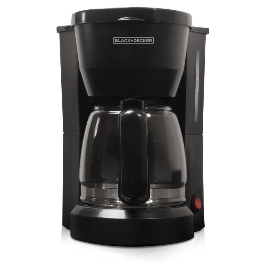 Shop BLACK & DECKER 5-Cup Black Coffee Maker at Lowes.com