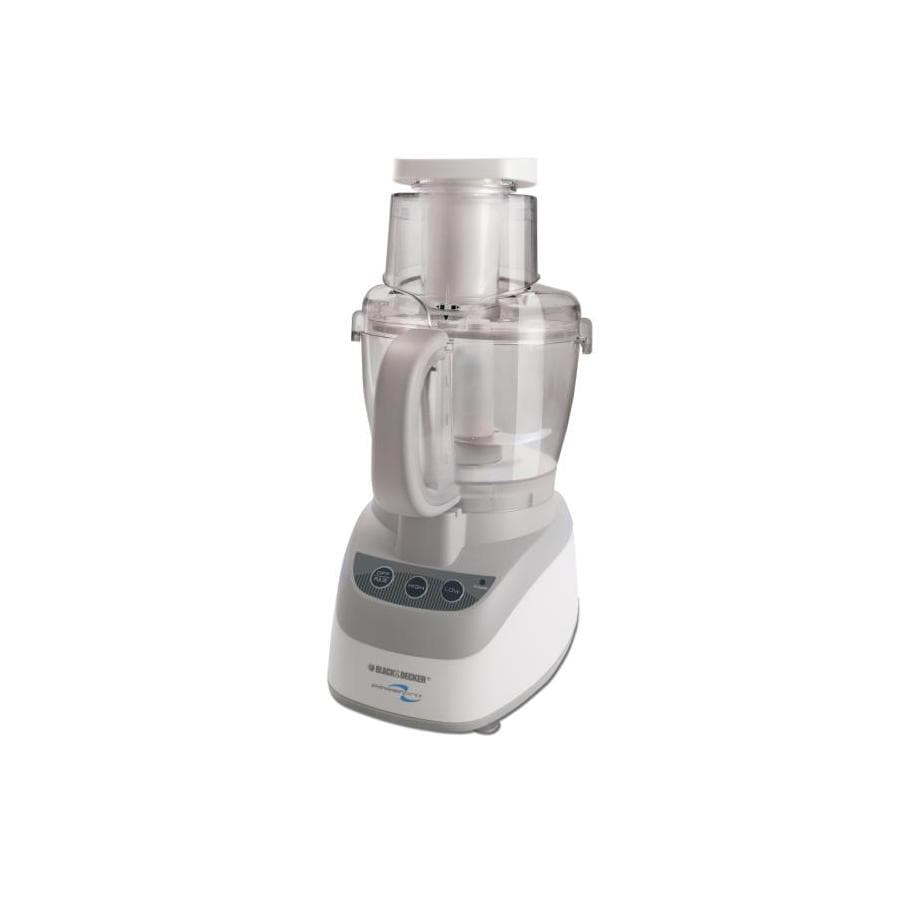 BLACK & DECKER 10-Cup 500-Watt White 2-Blade Food Processor