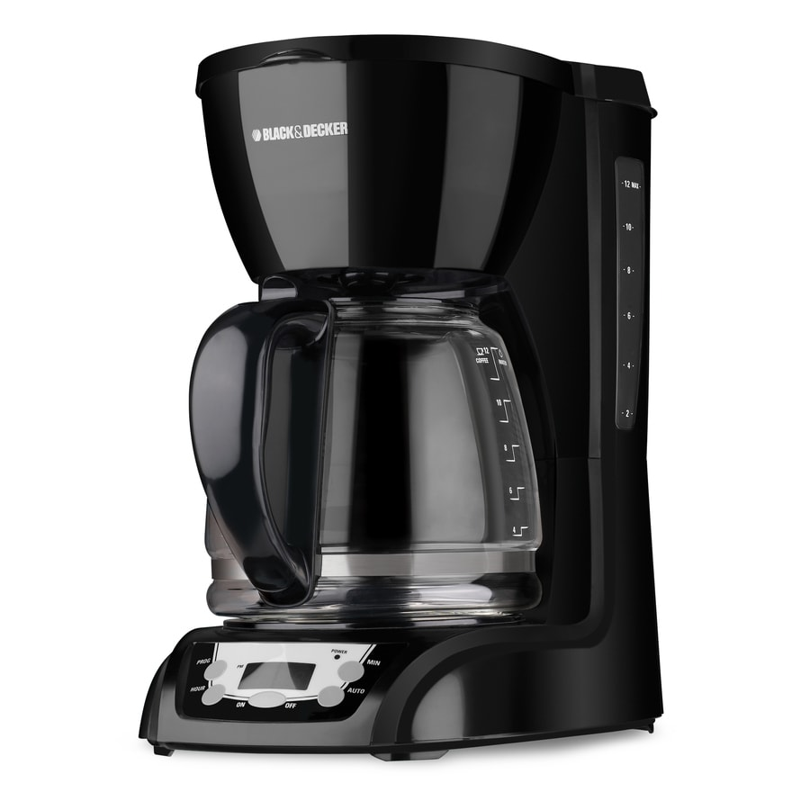 BLACK & DECKER 12-Cup Black Programmable Coffee Maker