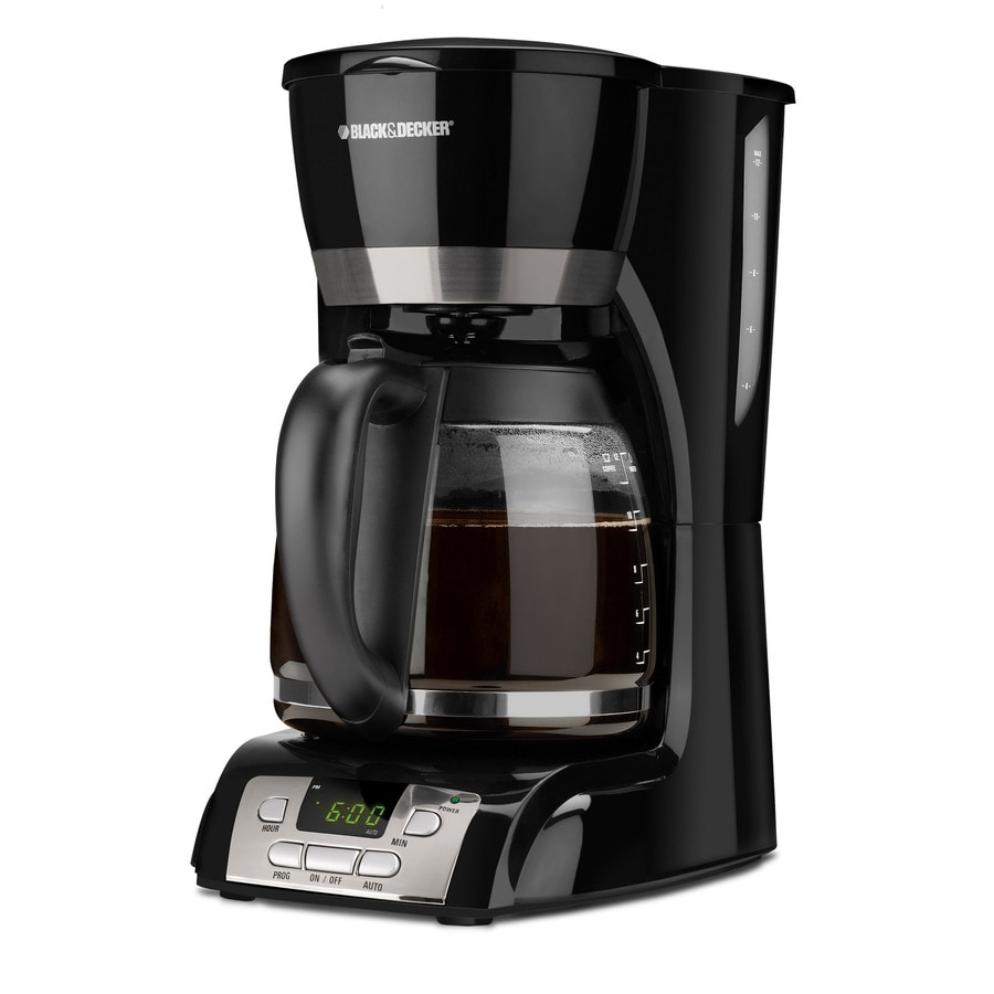 Coffee Maker Black And Decker 12 Cup : Shop BLACK & DECKER 12-Cup Black Programmable Coffee Maker at Lowes.com