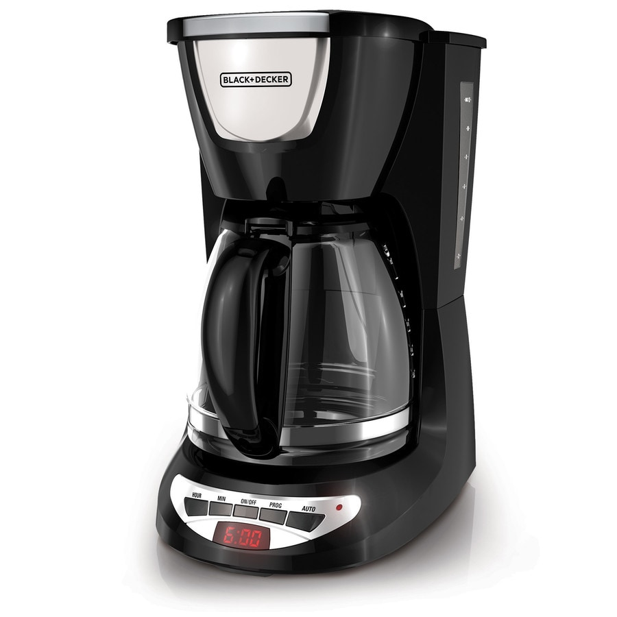 Shop BLACK & DECKER 12-Cup Black Programmable Coffee Maker at Lowes.com