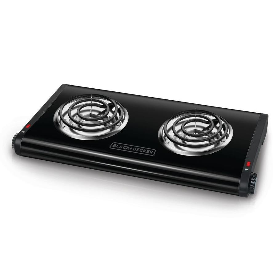 BLACK & DECKER 11.4-in 2-Burner Metal and Plastic Hot Plate