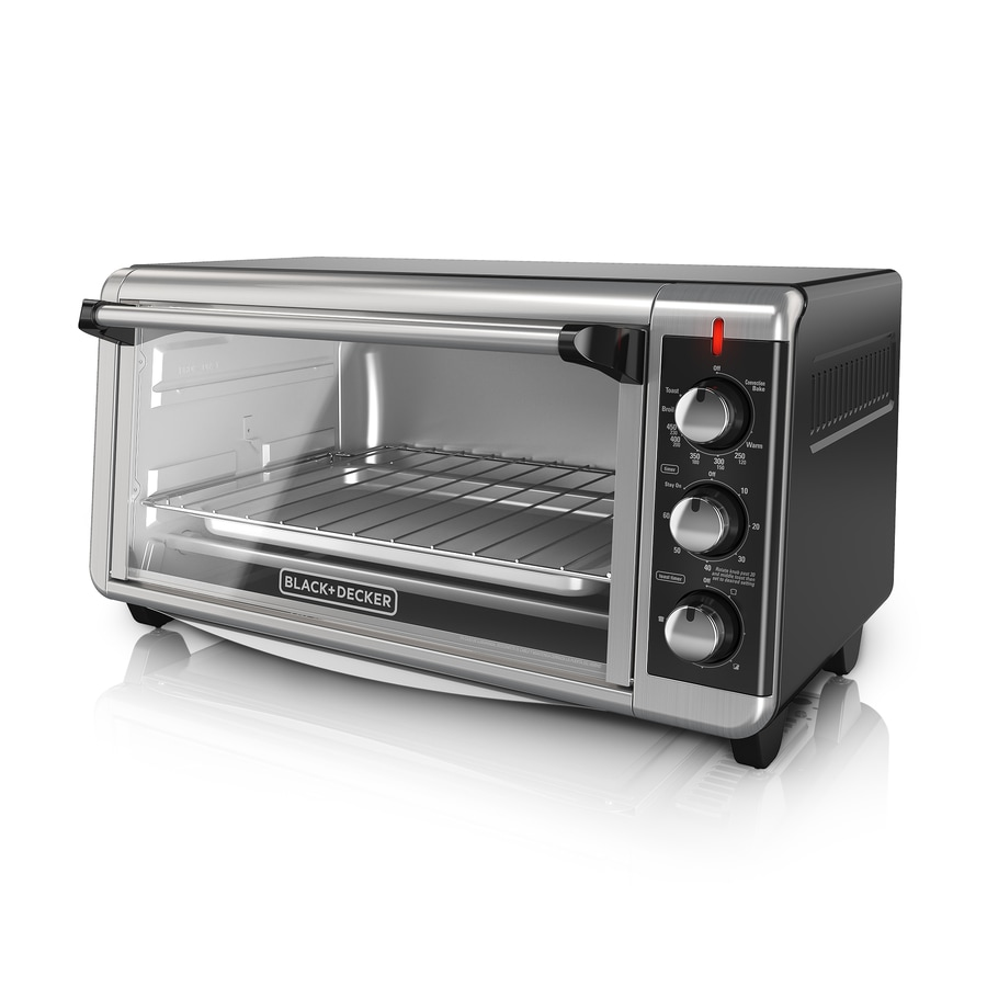Shop Black Decker 8 Slice Silver Toaster Oven At Lowes Com