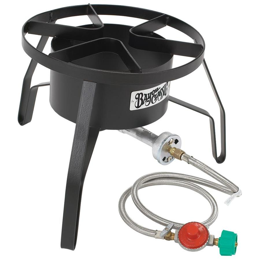 Bayou Classic Bayou Cooker 12.5-in 20-lb Cylinder Manual Ignition Black Steel Jet Cooker