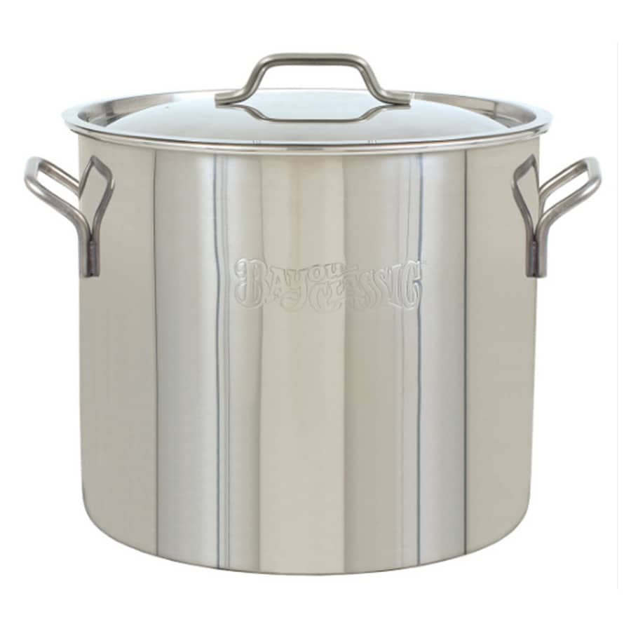 bayou classic 40 quart stainless steel stock pot with lid at. Black Bedroom Furniture Sets. Home Design Ideas