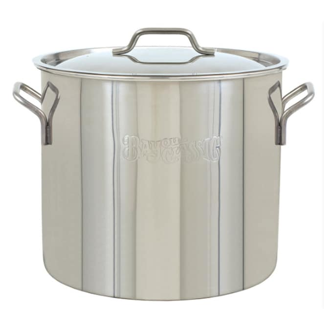 Bayou Classic 40 Quart Stainless Steel Stock Pot With Lid In The Cooking Pots Department At Lowes Com
