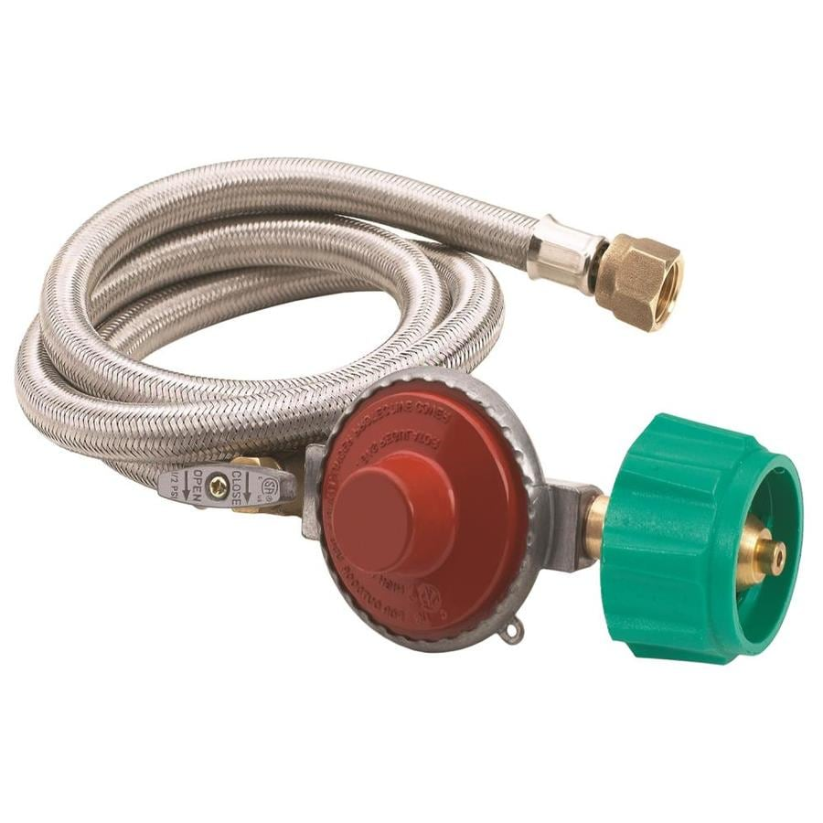 Bayou Classic 3/8-in 0.5-in Dia x 48-in L High-Output Propane Tank Regulator with Hose
