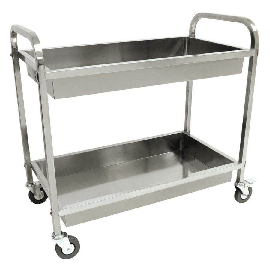 Shop Bayou Classic Stainless Steel Steel Outdoor Serving Cart at ...