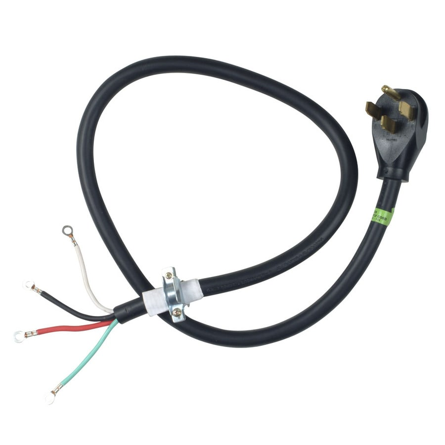 050946110073 shop whirlpool 4 ft 4 wire black dryer appliance power cord at power cord wiring diagram at crackthecode.co