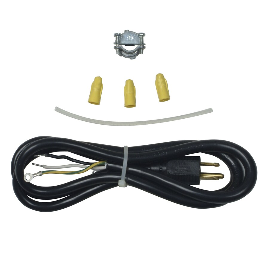 Shop Whirlpool 6-ft 3-Wire Black Dishwasher Appliance Power Cord at ...