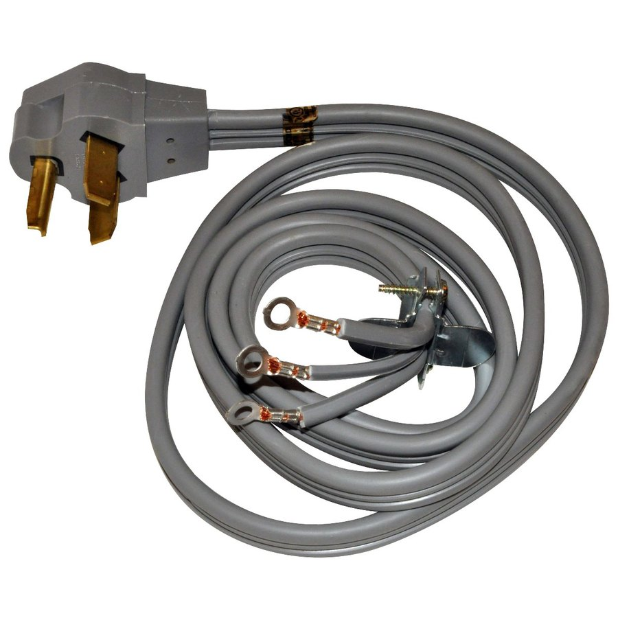 Shop Whirlpool® 4-Foot 3-Wire 30-Amp Dryer Cord at Lowes.com