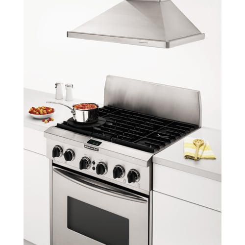 KitchenAid® 48 Inch Wall Canopy Range Hood (Color: Stainless)