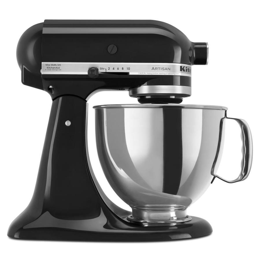 Superior KitchenAid Artisan 5 Quart 10 Speed Onyx Black Countertop Stand Mixer