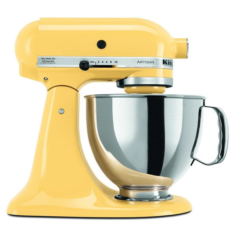 KitchenAid Artisan Series 5 Quart 10 Speed Majestic Yellow Countertop Stand  Mixer