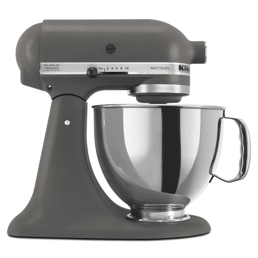 Shop kitchenaid artisan series 5 quart 10 speed imperial grey countertop stand mixer at - Kitchenaid mixer bayleaf ...