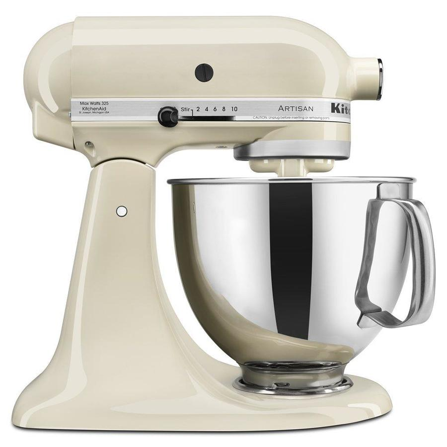 KitchenAid Artisan Series 5-Quart 10-Speed Almond Cream Countertop Stand Mixer