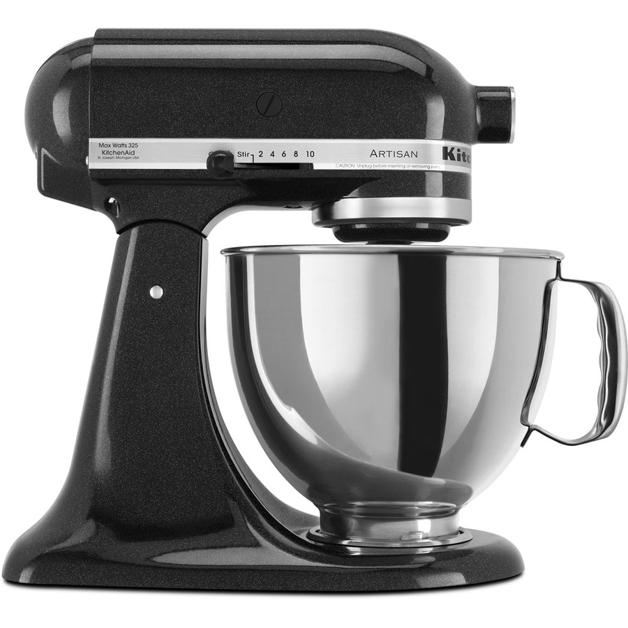 Shop kitchenaid artisan series 5 quart 10 speed caviar countertop stand mixer at - Kitchenaid mixer bayleaf ...