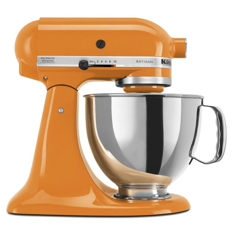 shop kitchenaid artisan series 5 quart 10 speed tangerine. Black Bedroom Furniture Sets. Home Design Ideas