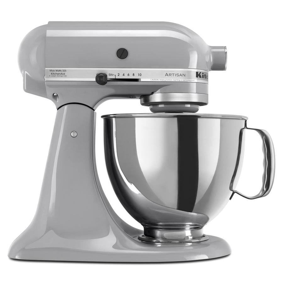 KitchenAid Artisan Series 5-Quart 10-Speed Metallic Chrome Countertop Stand Mixer
