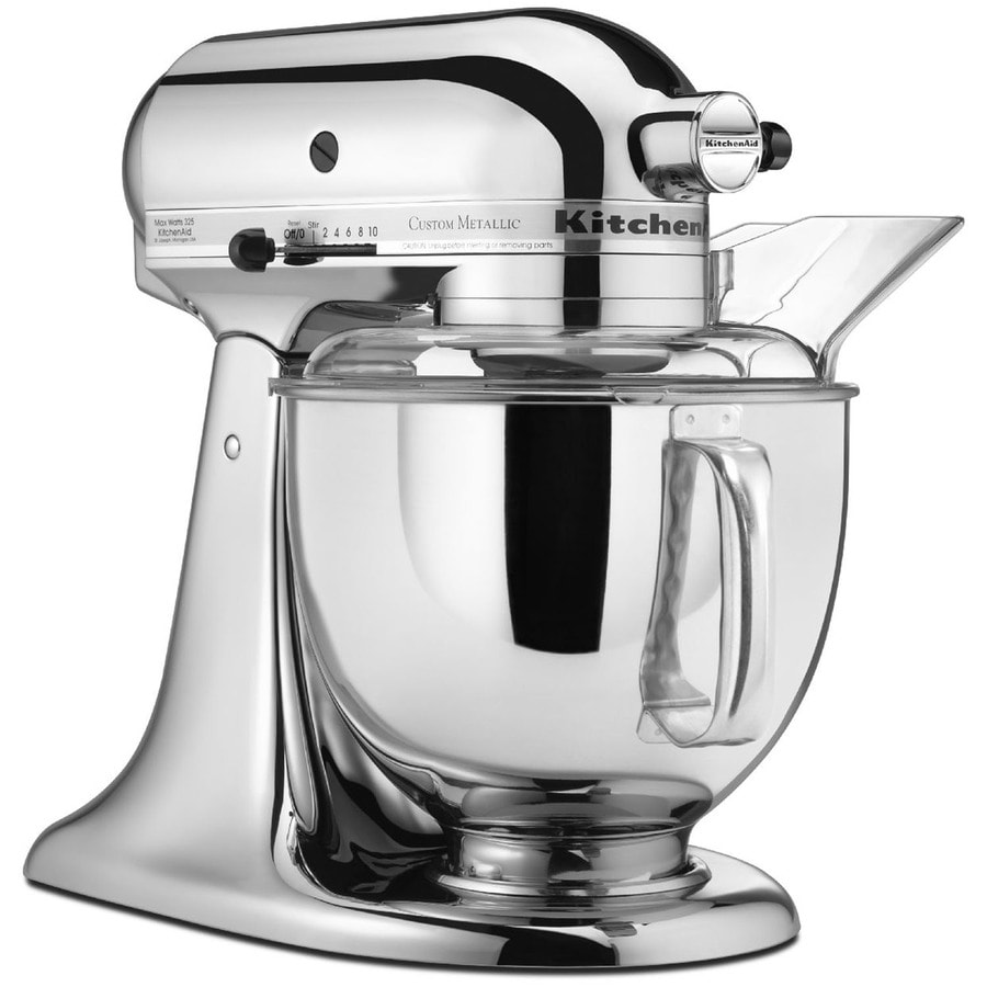 KitchenAid 5-Quart 10-Speed Chrome Countertop Stand Mixer