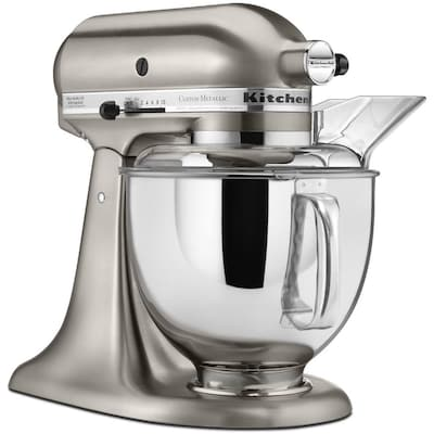 5-Quart 10-Speed Brushed Nickel Countertop Stand Mixer