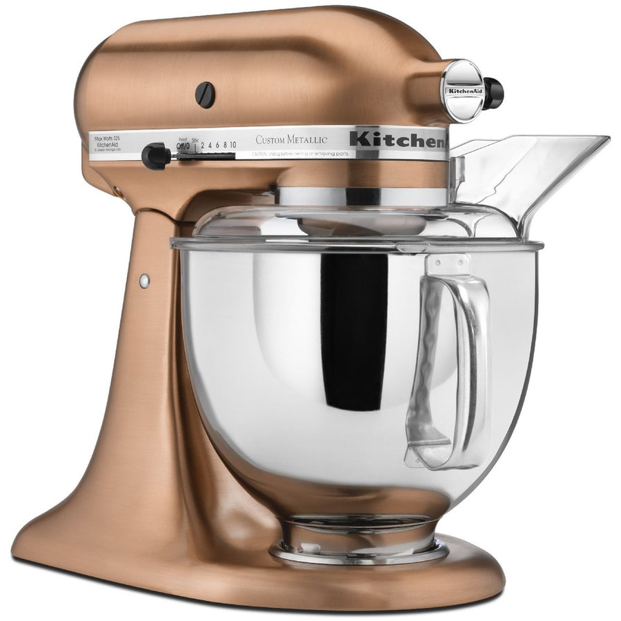 Attractive KitchenAid 5 Quart 10 Speed Satin Copper Countertop Stand Mixer