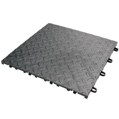 Gladiator 4 Piece 12 In X Charcoal Tread Plate Garage Floor