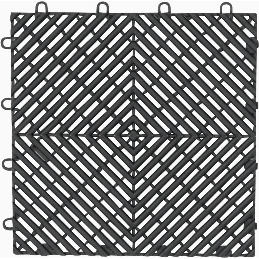 Shop gladiator 4 piece 12 in x 12 in charcoal tread plate garage gladiator 4 piece 12 in x 12 in charcoal tread plate garage floor dailygadgetfo Choice Image