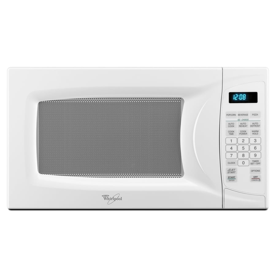 Whirlpool 0 7 Cu Ft Compact Countertop Microwave Oven Color White