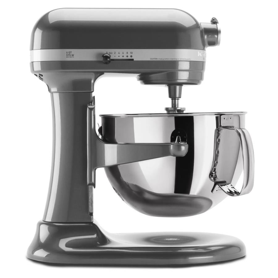 Exceptional KitchenAid Professional 600 6 Quart 10 Speed Pearl Metallic Countertop  Stand Mixer