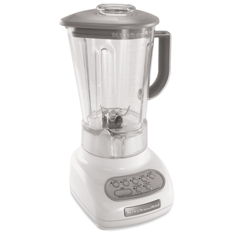 KitchenAid 56-oz White 5-Speed 0.9-Watt Pulse Control Blender