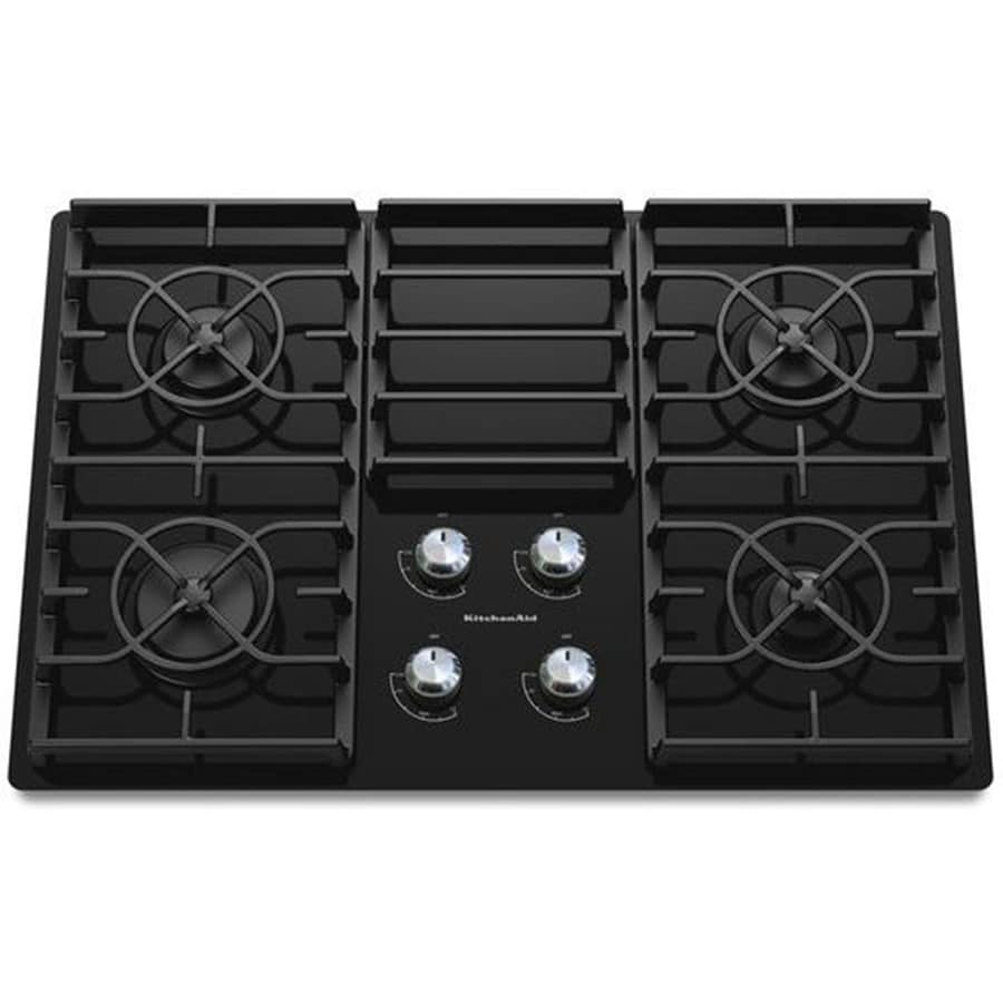 KitchenAid Architect II Gas Cooktop (Black) (Common: 30-in; Actual: 30.188-in)