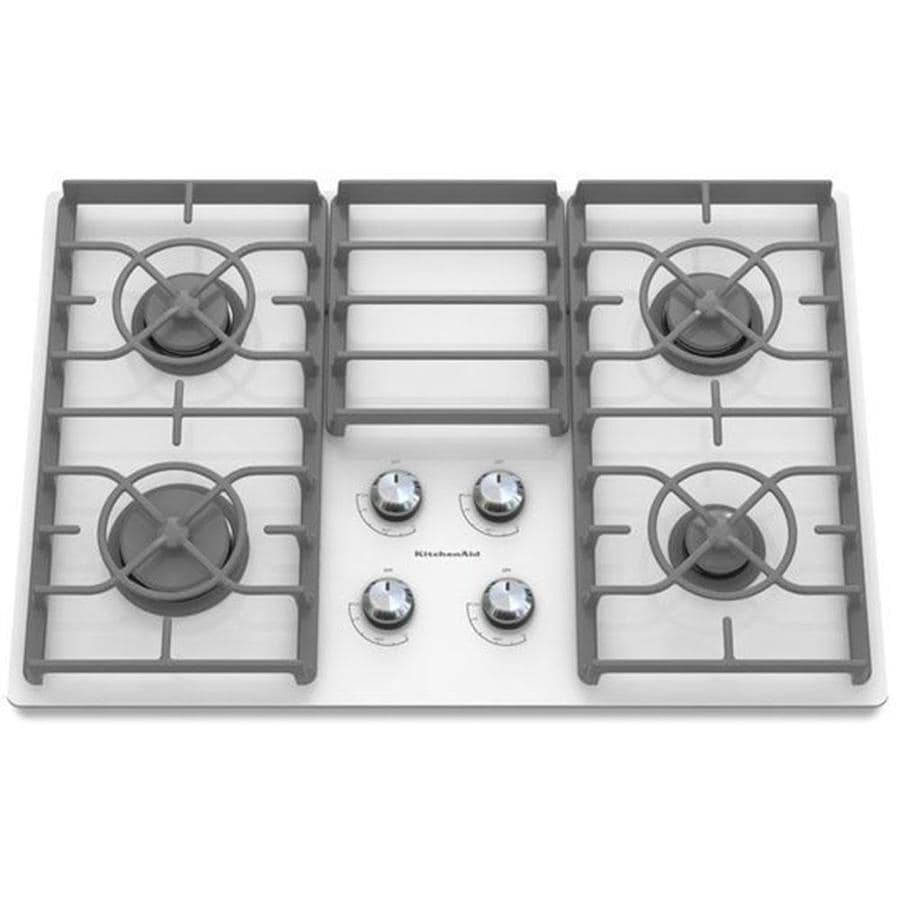 KitchenAid Architect II Gas Cooktop (White) (Common: 30-in; Actual: 30.188-in)
