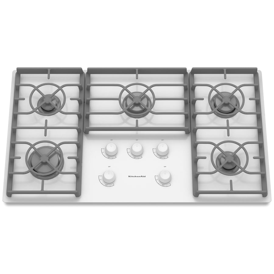 KitchenAid 36 In 5 Burner Gas Cooktop (White)