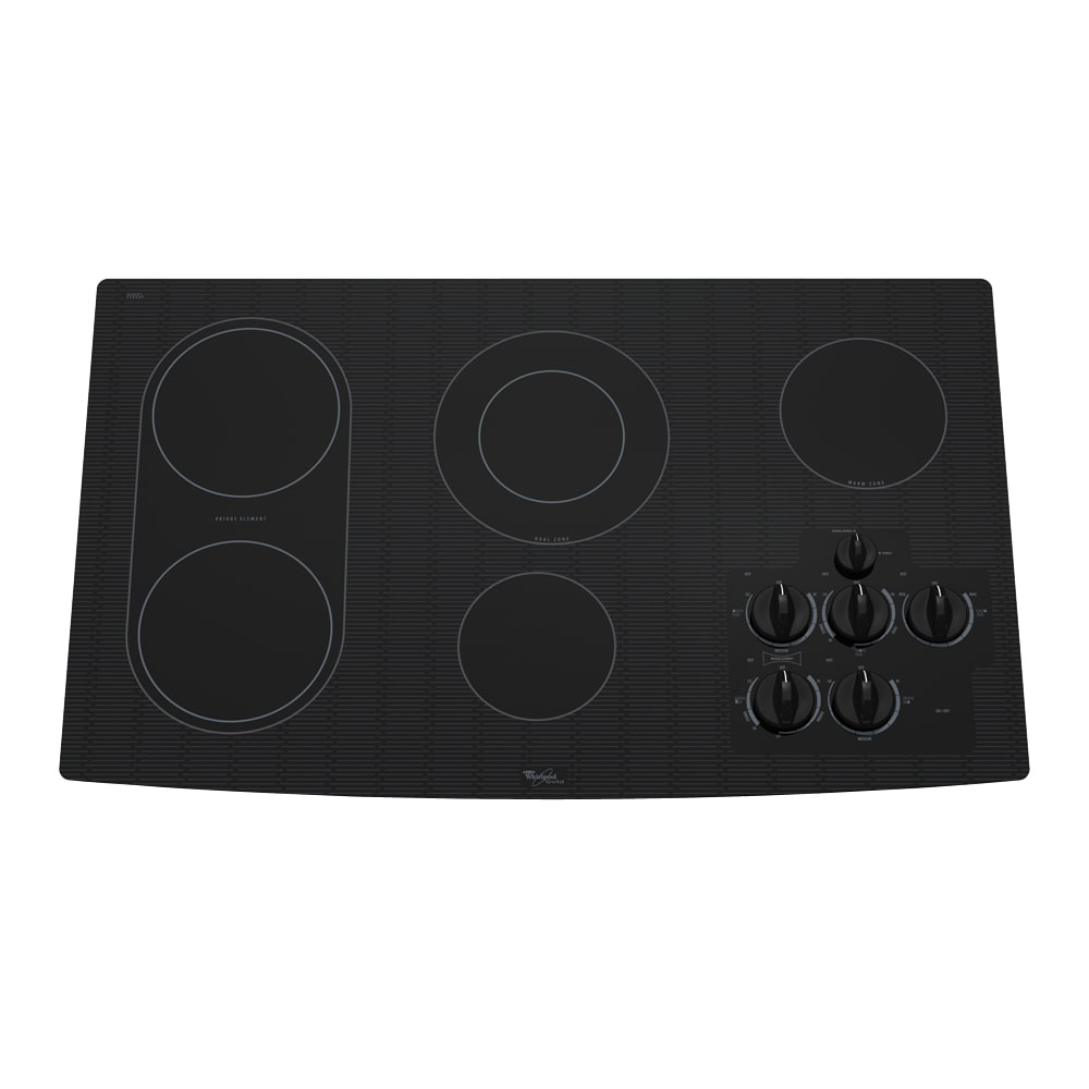 Lowes cooktops 36 inch - Whirlpool Gold 36 Inch Electric Cooktop Color Black