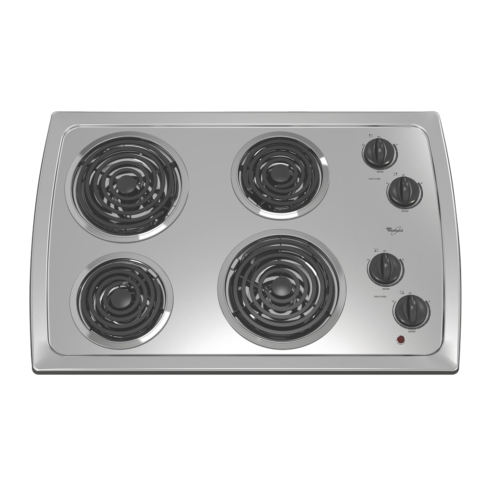 30 Inch Electric Cooktop ~ Shop whirlpool inch electric cooktop color stainless