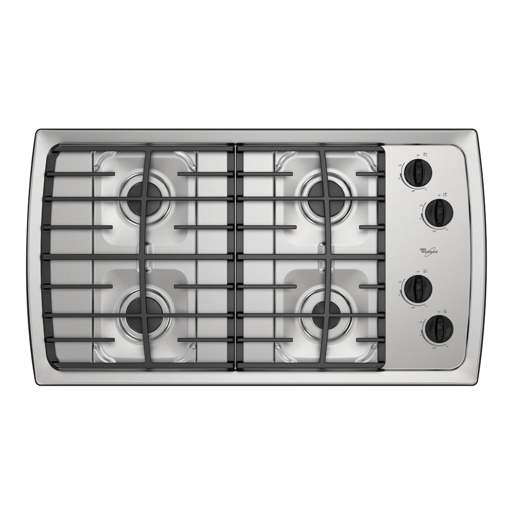 Lowes cooktops 36 inch - Whirlpool 36 Inch Gas Cooktop Color Stainless