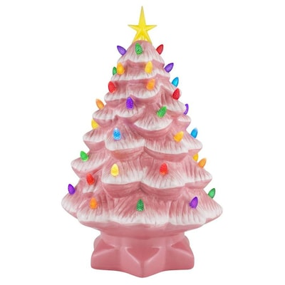 Lighted Bright Pink Tree Tabletop