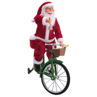 Red White Black Green Animatronic Santa Christmas Gift At